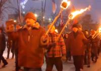 В Славянске провели факельное шествие в честь дня рождения Бандеры