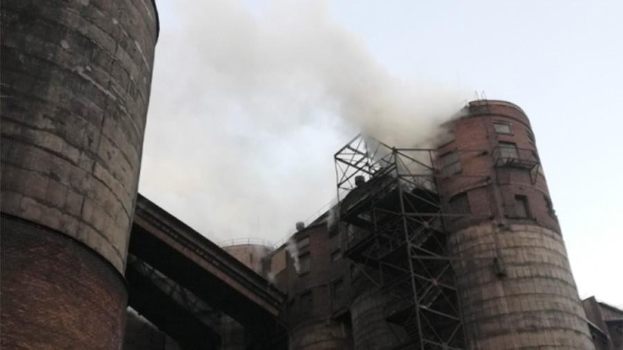 На Магнитогорском металлургическом комбинате произошел пожар