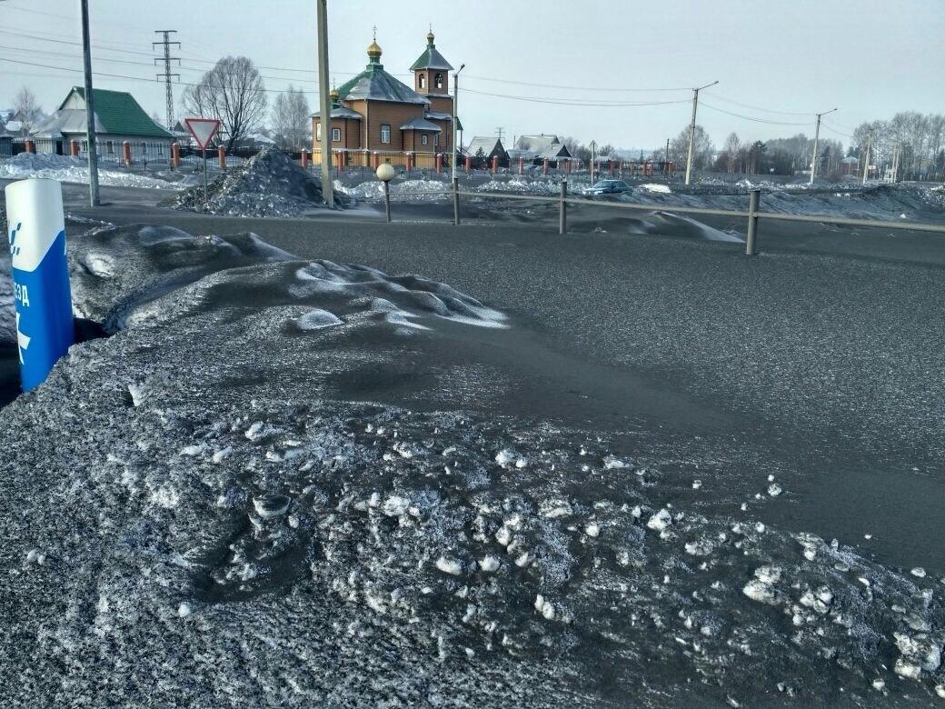 На Кузбассе выпал «чёрный снег»