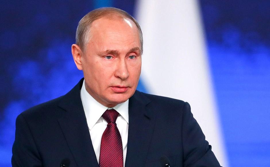 Путин обратился к россиянам в связи с коронавирусом