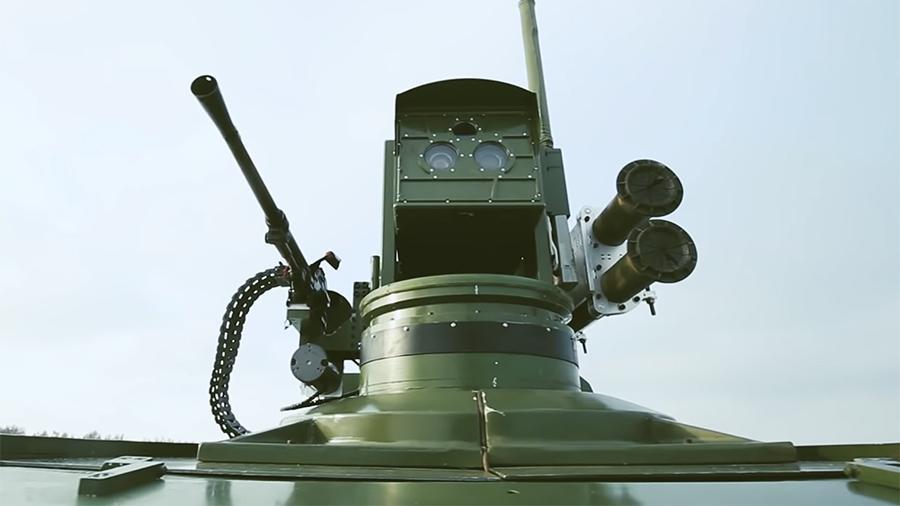 Военные завершили ходовые испытания российского боевого робота «Маркер»
