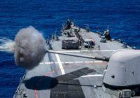 Российский сторожевой корабль «Сметливый» взял на прицел американский эсминец