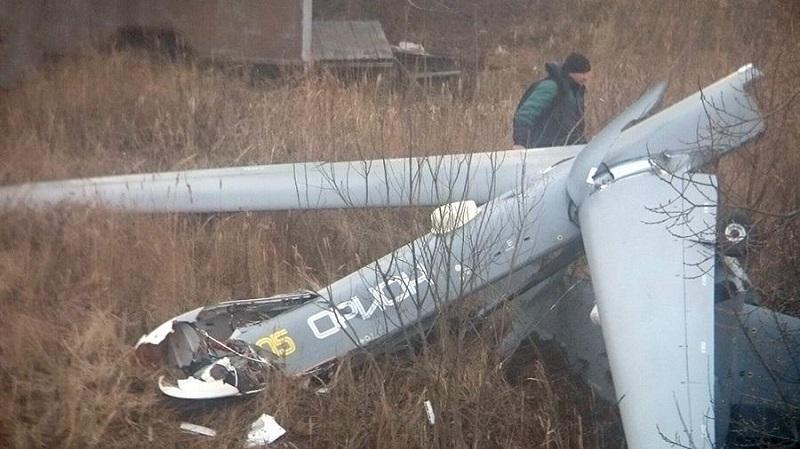 Военный беспилотник «Орион» упал в Рязанской области
