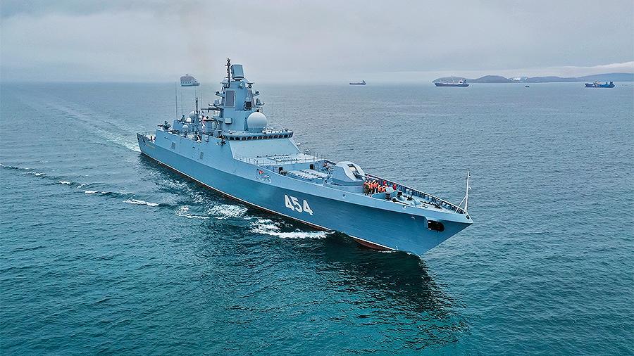Фрегат «Адмирал Горшков» прибыл в Белое море для испытаний оружия