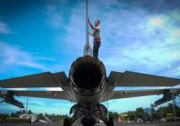 Американский F-16 случайно обронил ракету на Японию