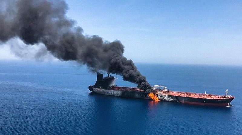 В сети появилось видео взрыва на танкере «Залив Америка»
