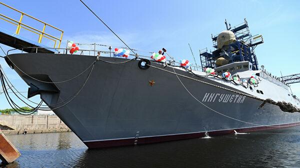 В состав ЧФ вошёл новейший ракетный корабль «Ингушетия»