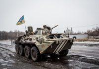 Пьяные боевики ВСУ на БТР снесли столб в Донбассе