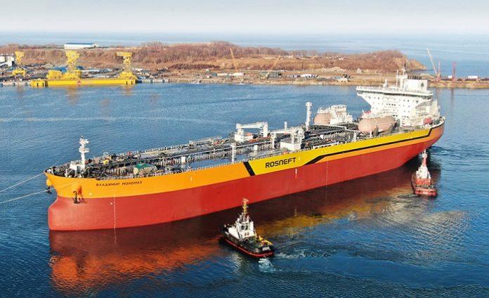 Российский танкер «Владимир Мономах» сошёл со стапелей верфи «Звезда»