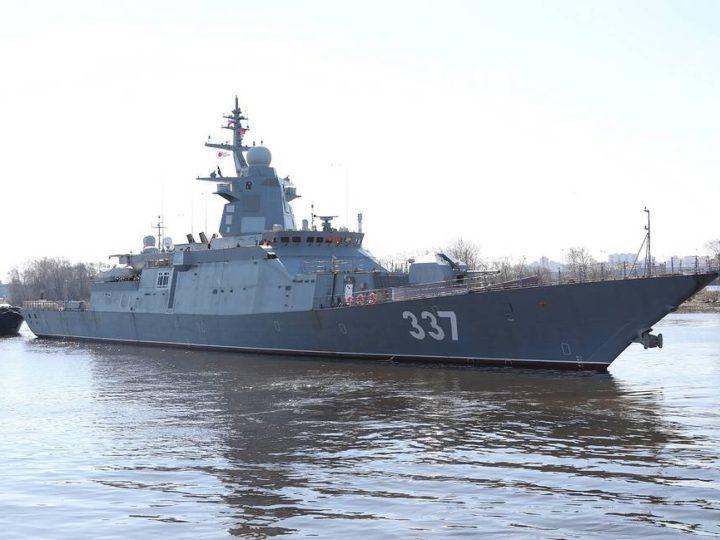 На Балтике начались испытания корвета «Гремящий» с вертолетами Ка-27