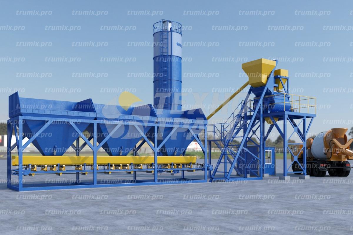 Бетонный завод TRUMIX-60:  особенности завода