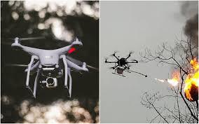 Китайцы сожгли кусачих ос с помощью дрона-огнемета