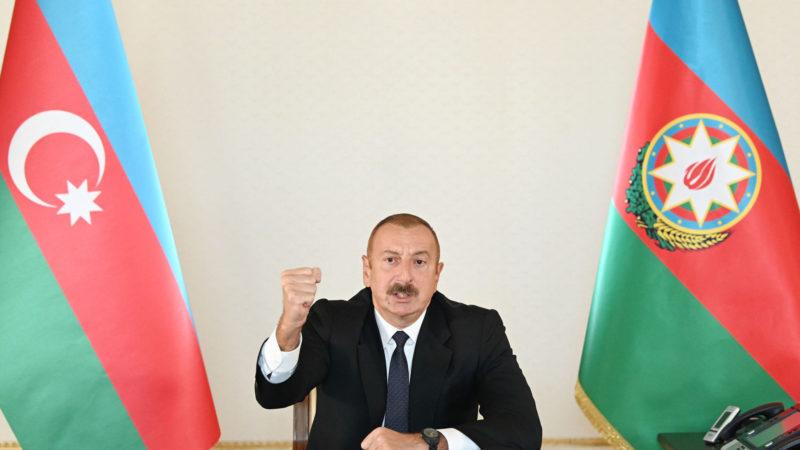 Алиев заявил, что карабахский конфликт остался в прошлом