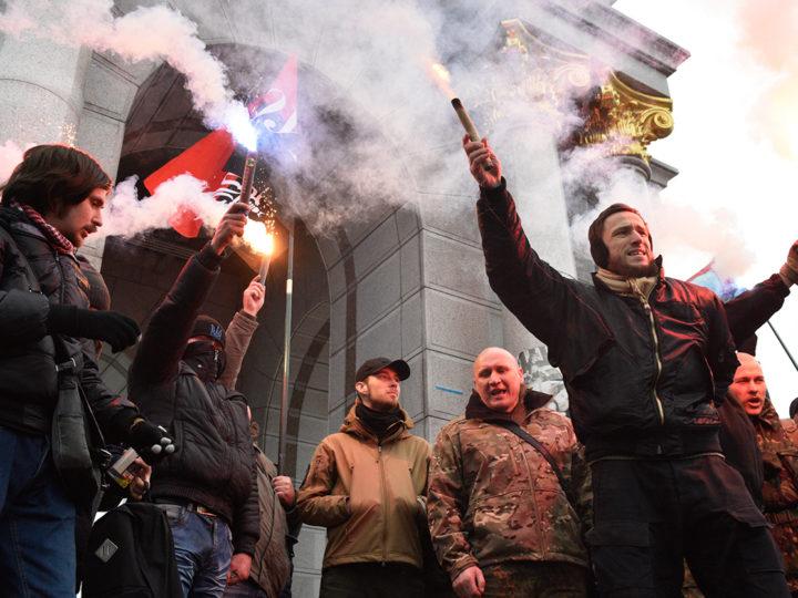 Украинских радикалов обвиняют в нападении на Россотрудничество