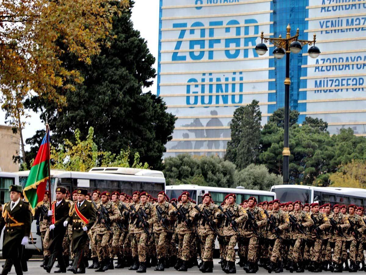 Военный парад в честь победы в Карабахе проводят в Баку