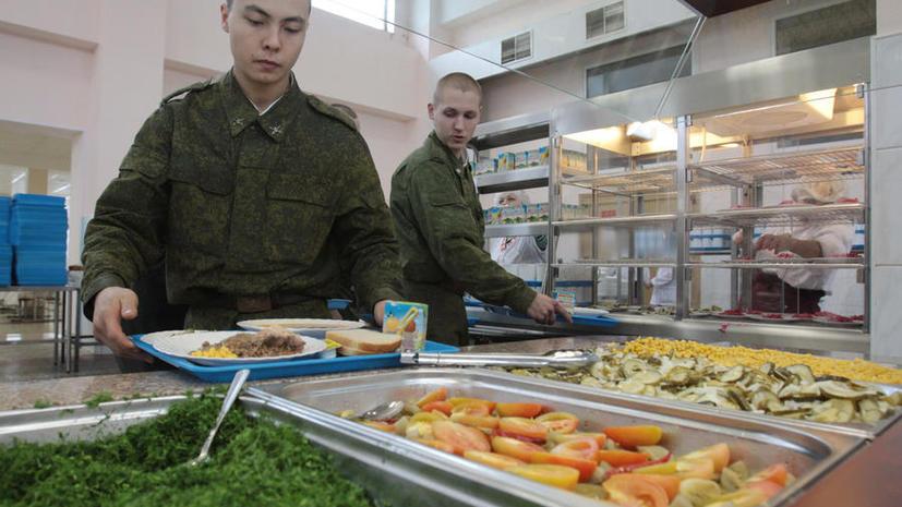 В российской армии ввели питание по отпечатку пальца