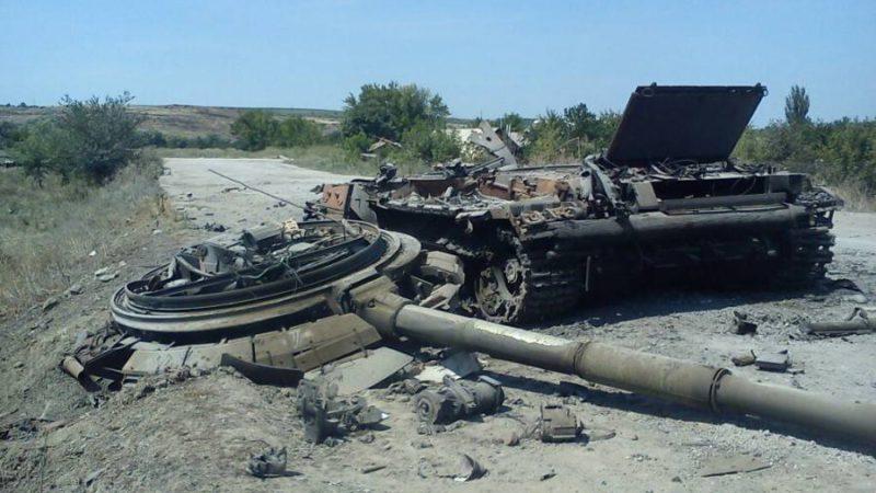 Разобранные украинские танки нашли на Донбассе