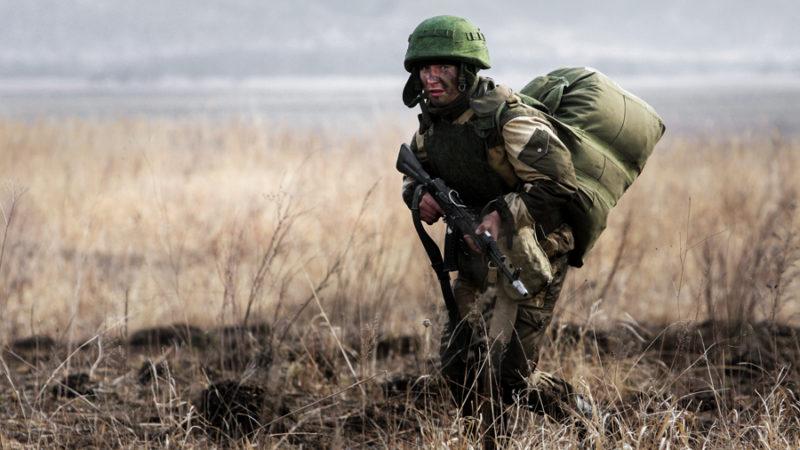 Морская пехота России проводит учения в Крыму