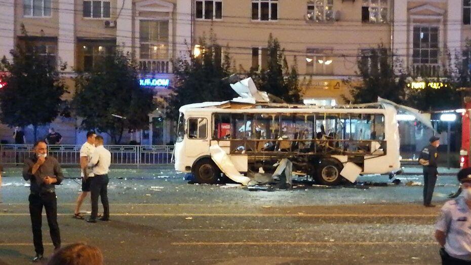 При взрыве автобуса в Воронеже пострадал 21 человек