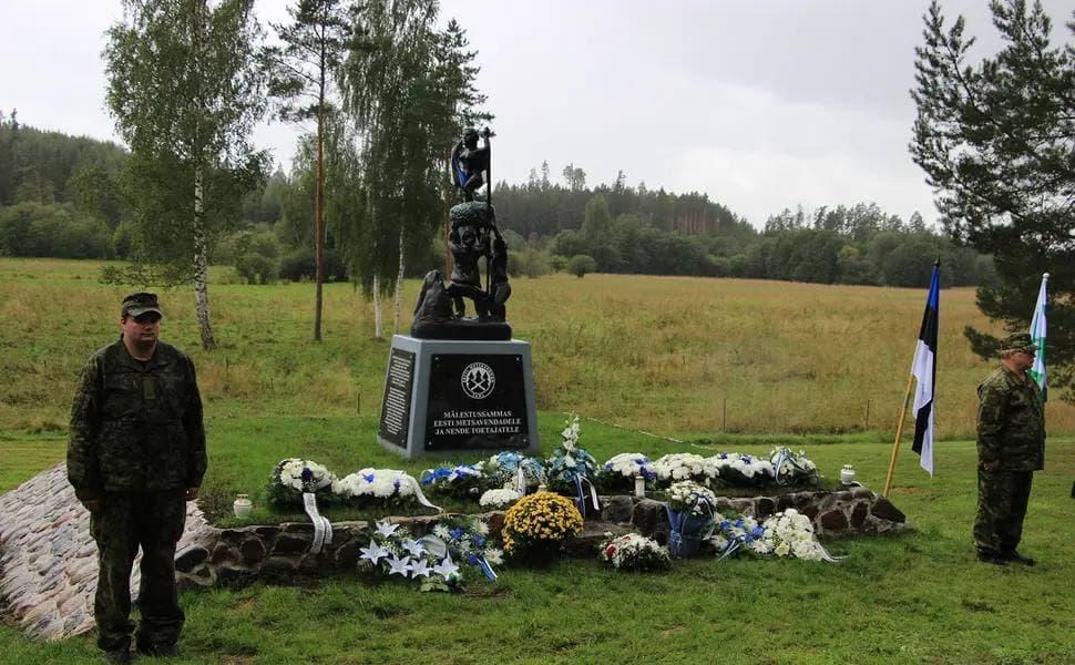 В Эстонии установили памятник антисоветским националистам