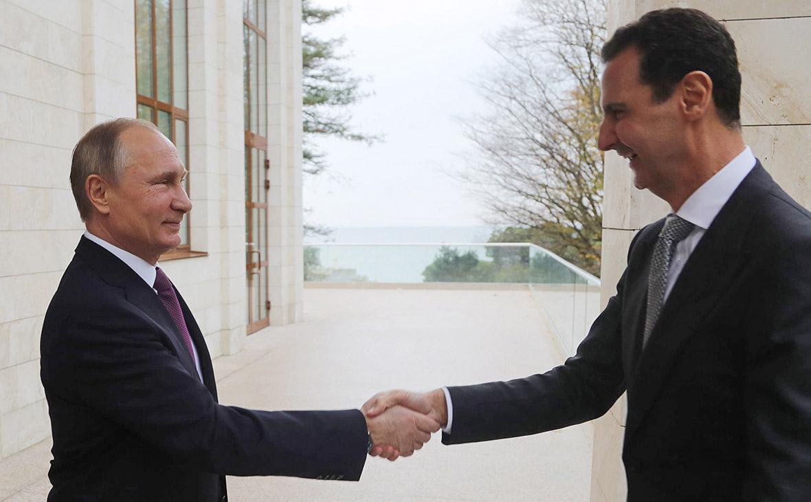 Путин встретился с Асадом в Кремле