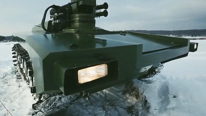Группу ударных роботов испытали в России